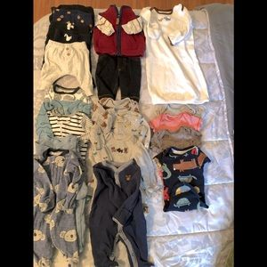 22 piece BUNDEL of Newborn BOYS clothes